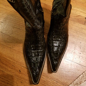 Back Alligator Cowboy Boots